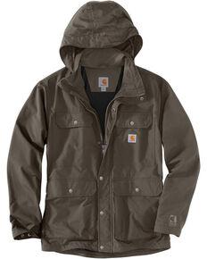 Carhartt Men's Firewood Utility Coat - Tall , Dark Grey, hi-res
