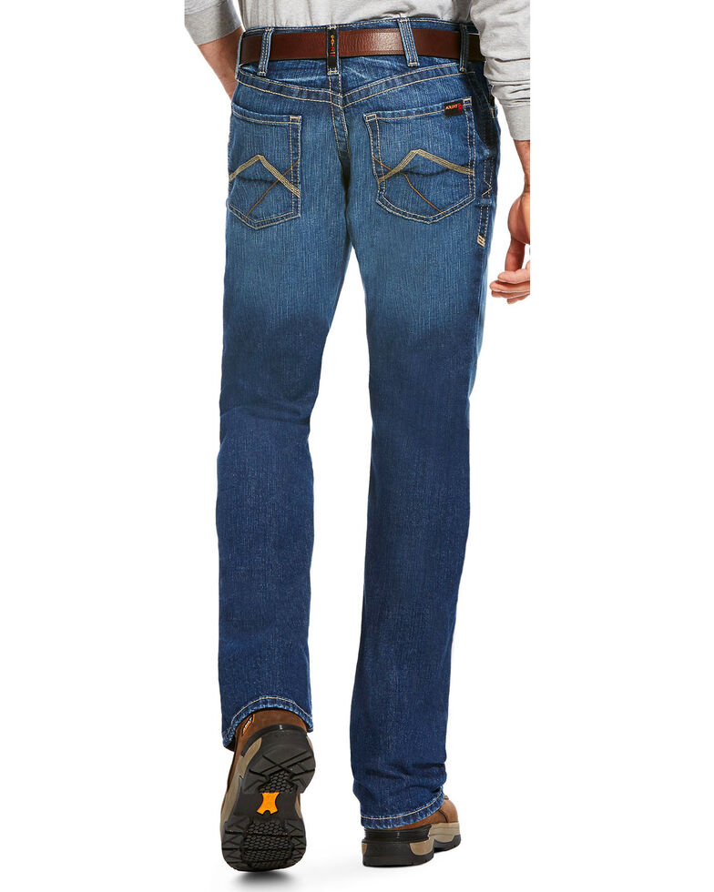 Ariat Men S Fr M4 Stitched Incline Titanium Wash Jeans Boot Cut