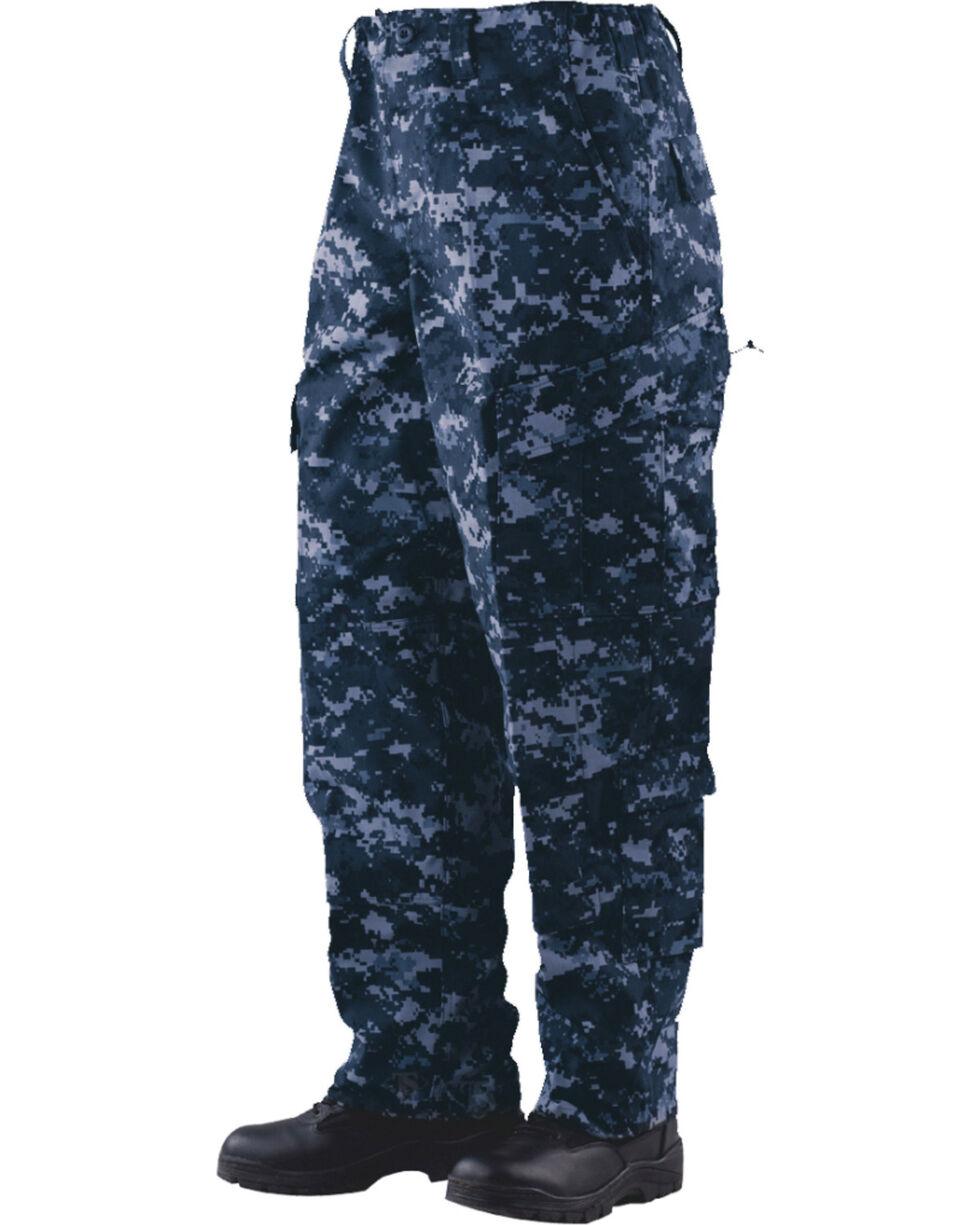 Tru-Spec Tactical Response Camo RipStop Uniform Pants - Big and Tall, Midnight, hi-res