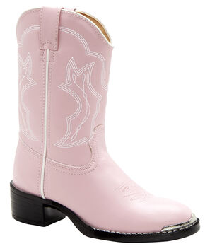 Durango Toddler Girls' Dusty Pink & Chrome Western Boots - Round Toe, Pink, hi-res