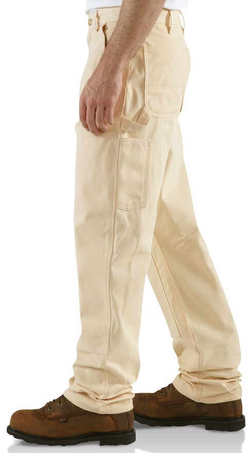 Carhartt Double Front Drill Work Dungaree Pants, Natural, hi-res