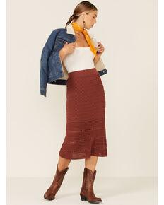 Wishlist Women's Brick Crochet Midi Skirt , Rust Copper, hi-res