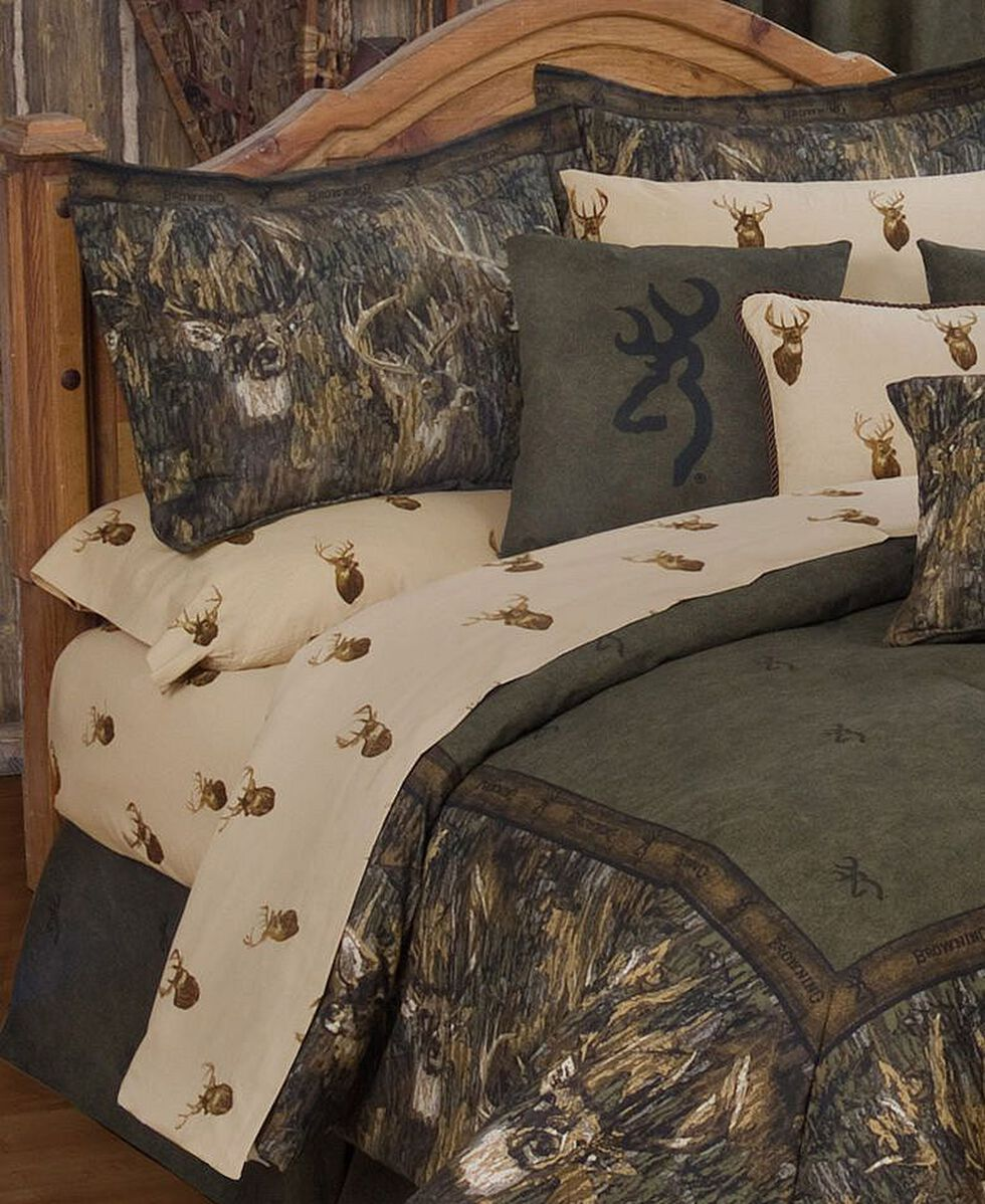 Browning Whitetails Twin Sheet Set, Multi, hi-res