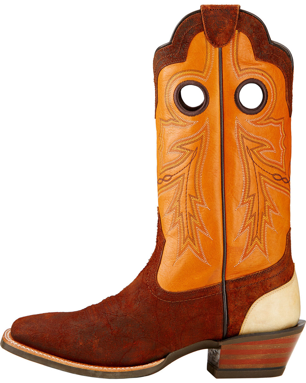 Ariat Wildstock Cowboy Boots - Square Toe , Brick, hi-res