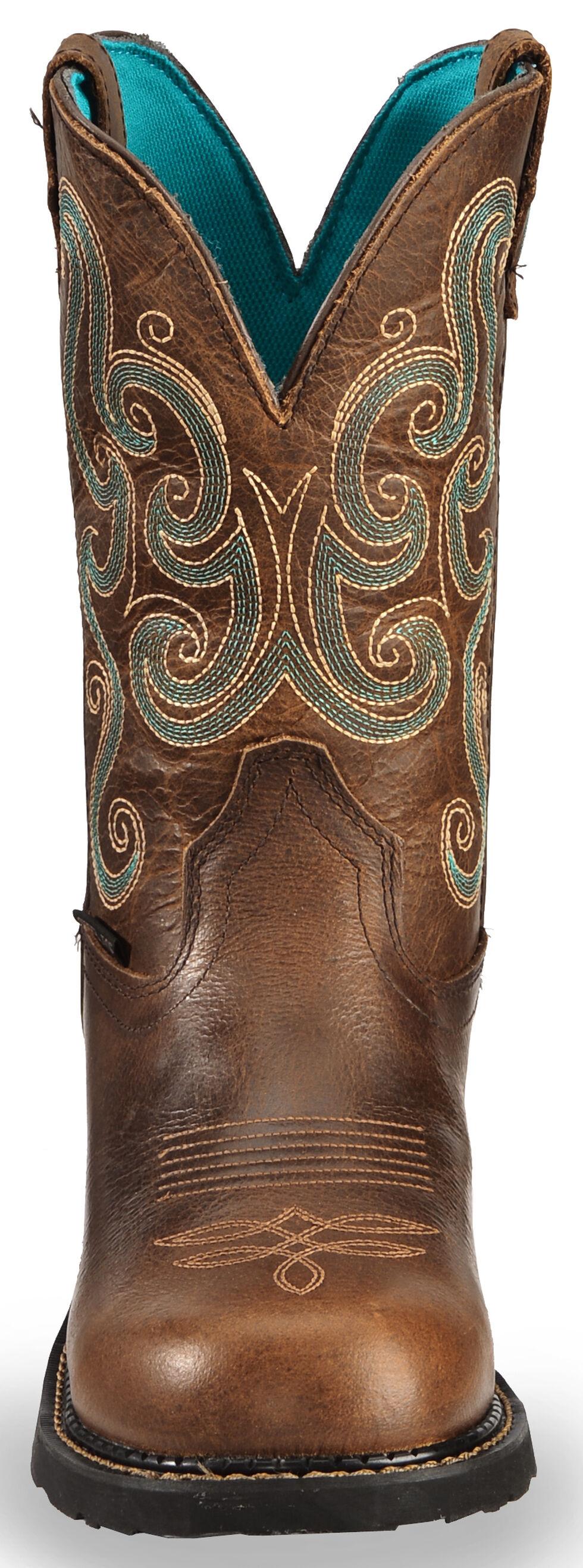 Justin Gypsy Women's Tasha EH Waterproof Work Boots - Steel Toe, Chocolate, hi-res