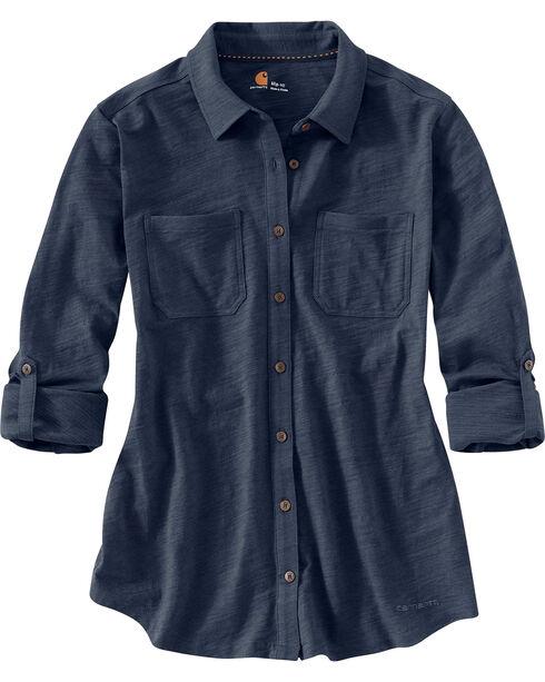 Carhartt Women's Medina Shirt, Navy, hi-res