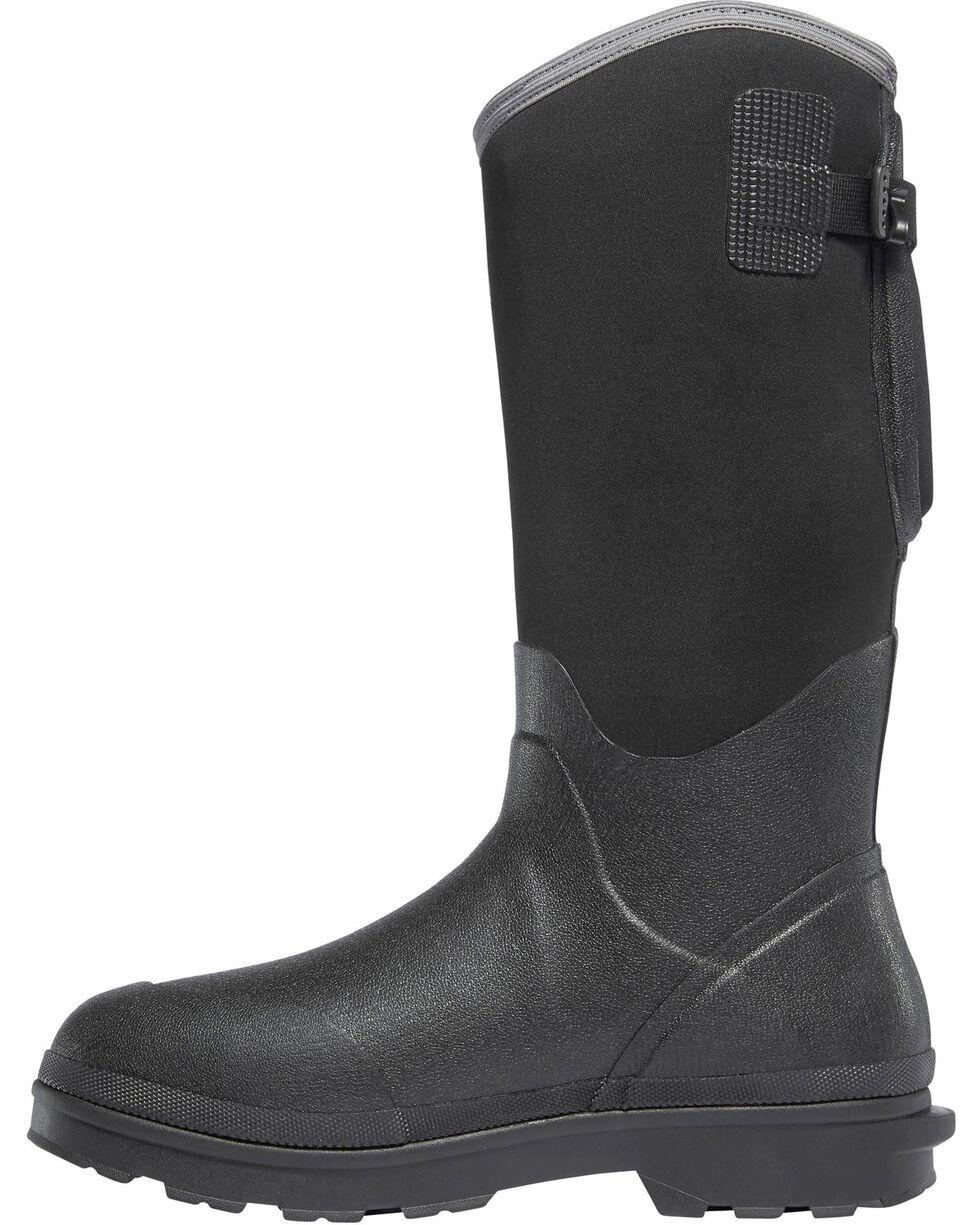 "LaCrosse Men's Black 14"" Alpha Range Utility Boots - Round Toe, Black, hi-res"