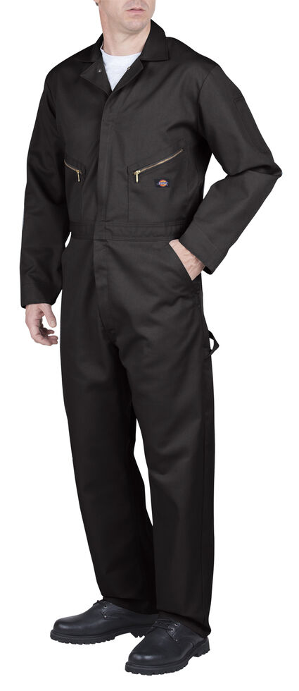 Dickies Deluxe Blended Coveralls - Big and Tall, Black, hi-res
