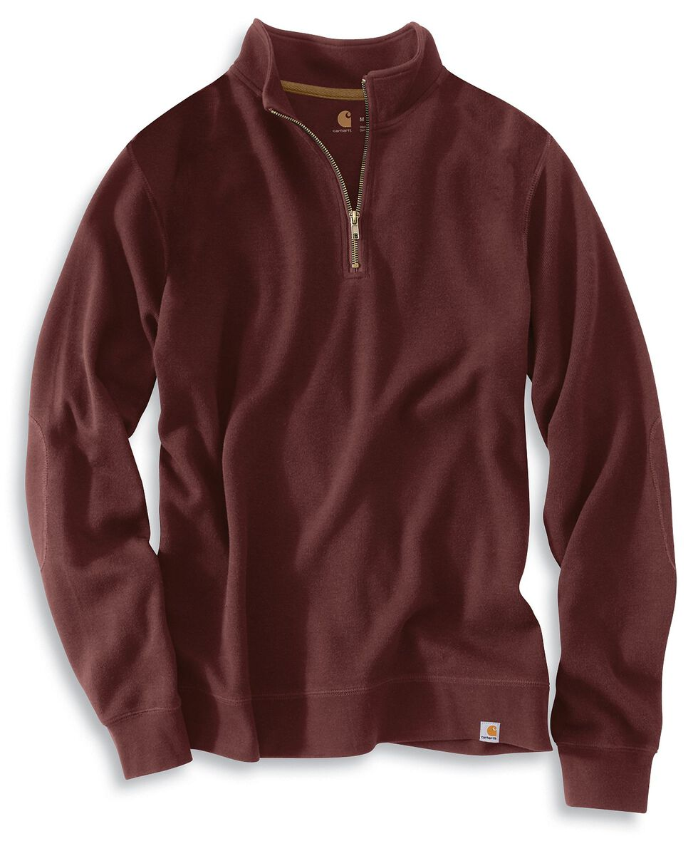 Carhartt Sweater Knit Quarter Zip Sweatshirt, Port, hi-res