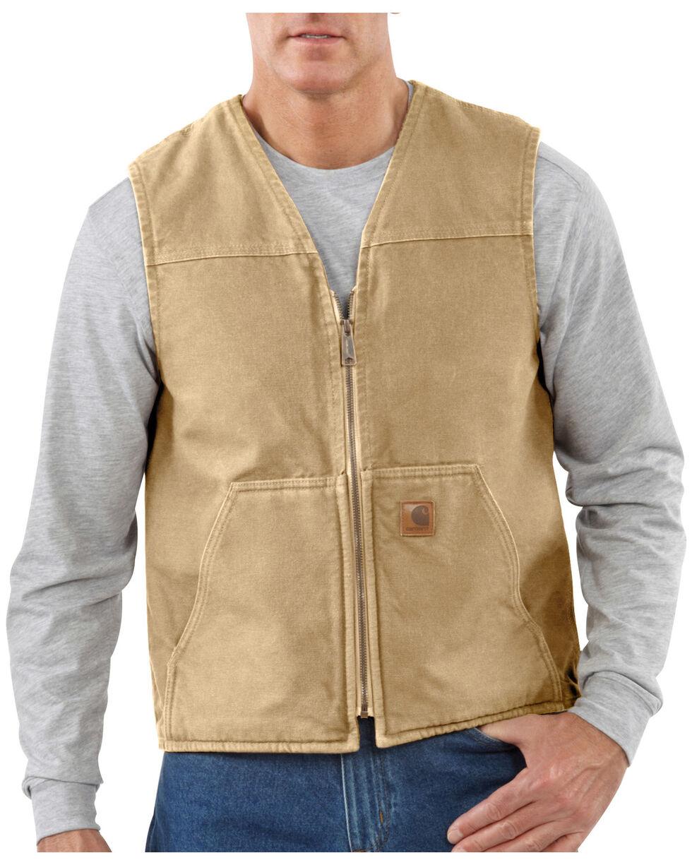 Carhartt Rugged Work Vest - Big & Tall, Brown, hi-res