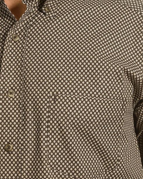 Tuf Cooper Performance by Panhandle Brown Print Stretch Shirt , Brown, hi-res