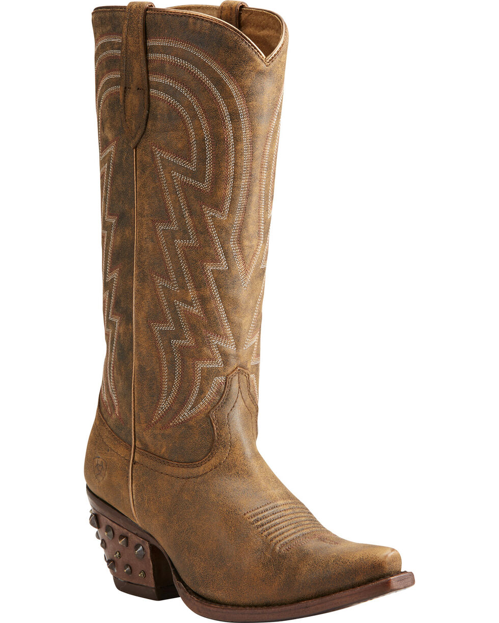 Ariat Women's Brown Diamante Western Boots - Snip Toe , Brown, hi-res
