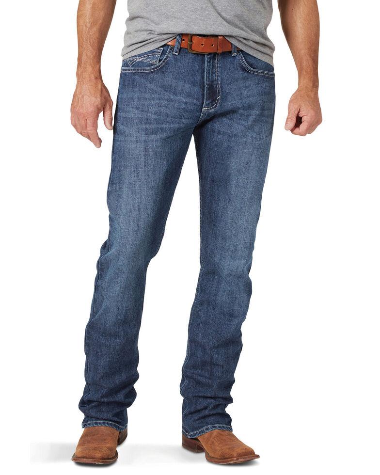 Wrangler 20X Men's No. 42 Tyler Stretch Vintage Bootcut Jeans - Long , Blue, hi-res