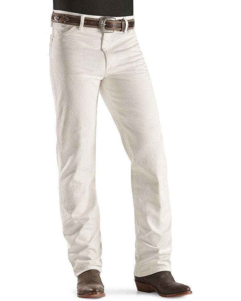 Wrangler Men's 936 Cowboy Cut Slim Fit Jeans - Prewashed Colors, White, hi-res