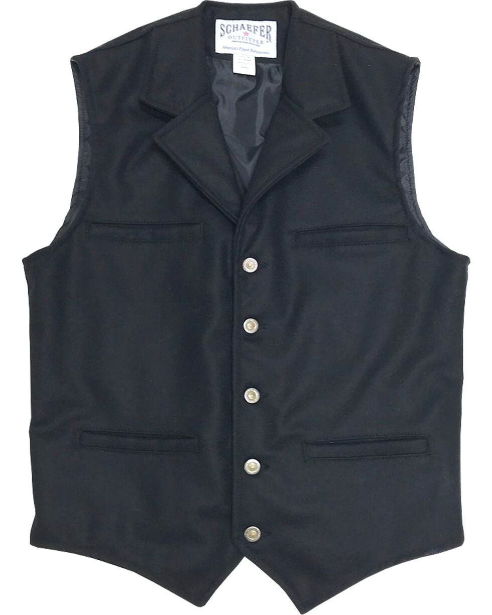 Schaefer Outfitter Men's 704 McCoy Wool Vest, Black, hi-res