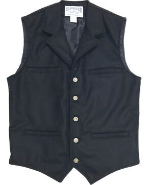 Schaefer Outfitter Men's 704 McCoy Wool Vest - 2XLT / 3XL, Black, hi-res