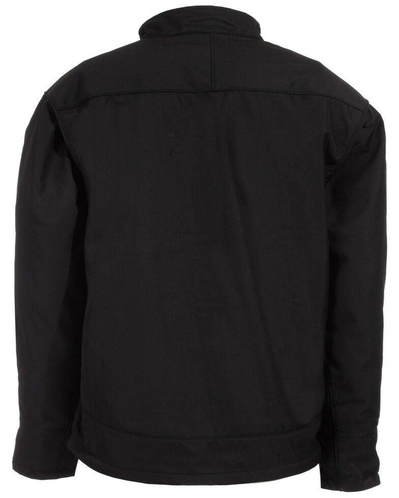 Berne Men's Eiger Softshell Work Jacket, Black, hi-res