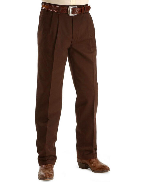 Wrangler Slacks - Riata Relaxed Fit, Dark Brown, hi-res