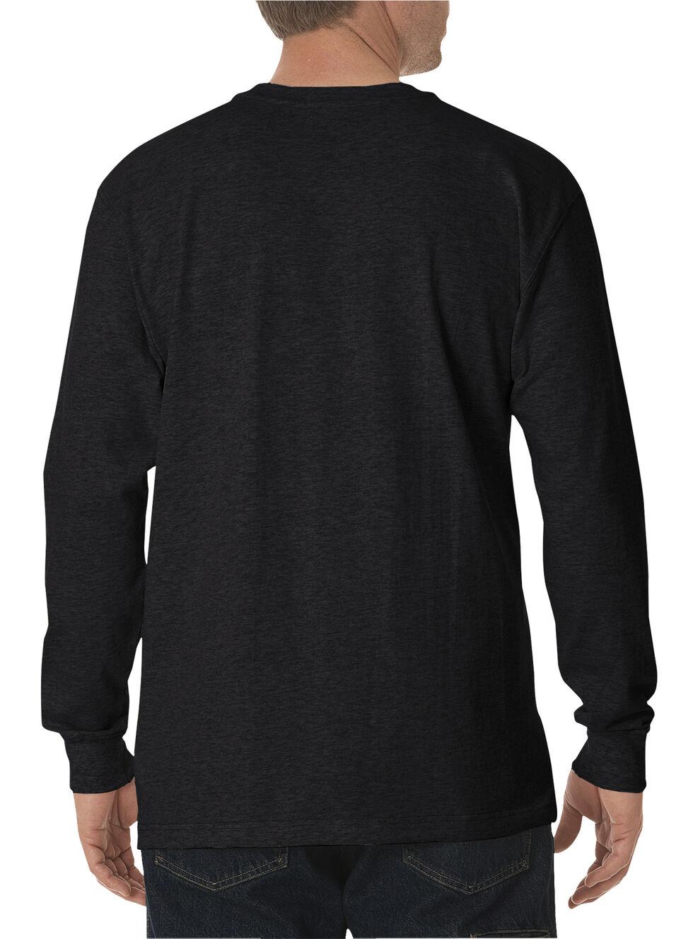 Dickies Men's Heavy Weight Crew Long Sleeve Tee - Big & Tall, Black, hi-res
