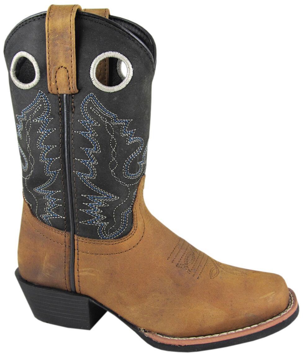 Smoky Mountain Boys' Mesa Western Boots - Square Toe, Brown, hi-res