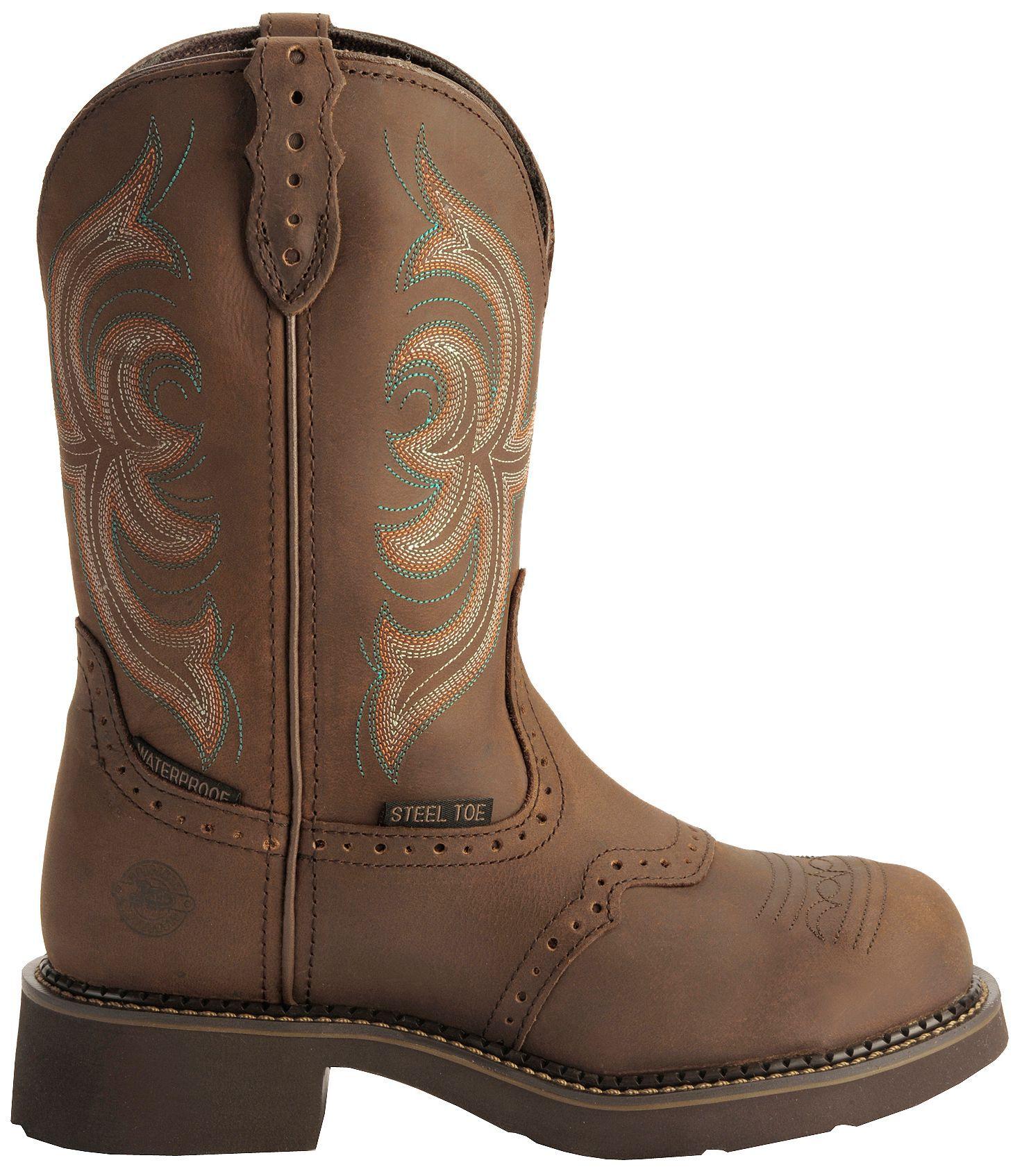 Brown EH Work Boots - Steel Toe
