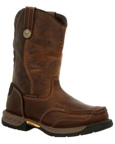 Georgia Boot Men's Athens 360 Waterproof Western Work Boots - Steel Toe, Brown, hi-res
