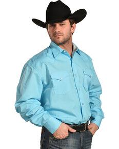 8e144e8439a Stetson Mens Blue This And That Print Shirt