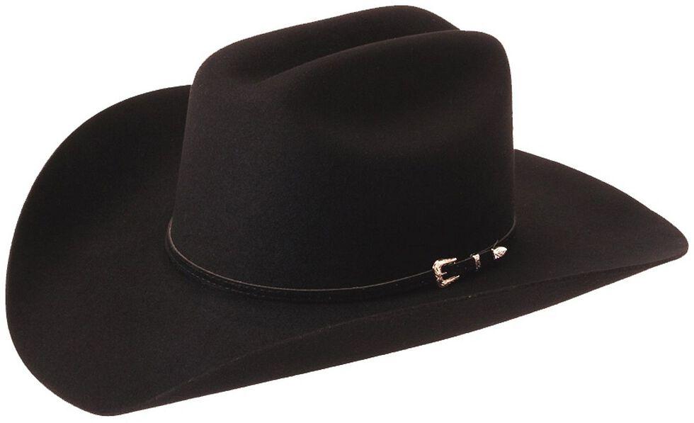 Silverado Gold-Tone Buckle Band Wool Felt Cowboy Hat, Black, hi-res