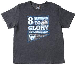 "Cowboy Hardware Boys' ""8 Seconds to Glory"" T-Shirt , Vintage Blue, hi-res"