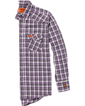 Wrangler Men's Purple FR Lightweight Work Shirt - Big & Tall , Purple, hi-res