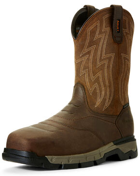 Ariat Men's Rebar Flex Western Work Boots - Composite Toe, Brown, hi-res