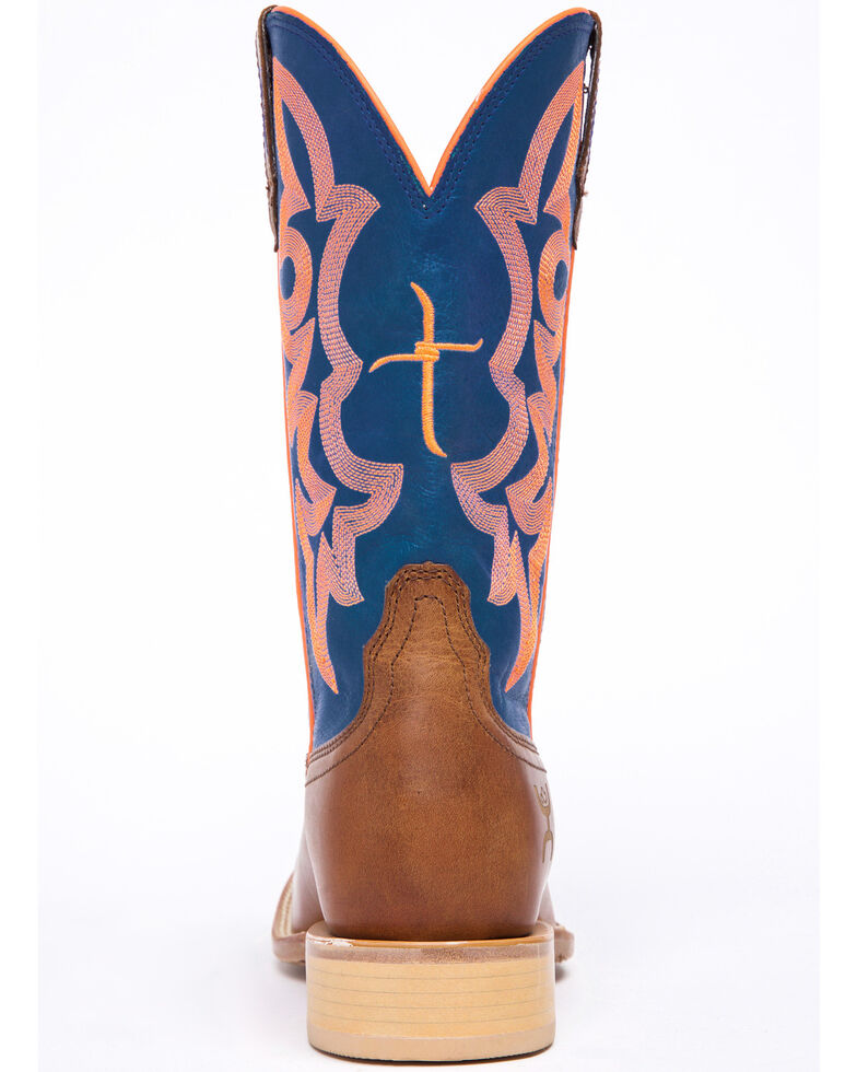 Hooey by Twisted X Neon Blue Cowgirl Boots - Wide Square Toe, Cognac, hi-res