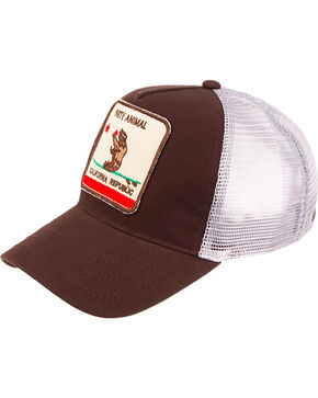 Peter Grimm California Republic Ball Cap , Brown, hi-res