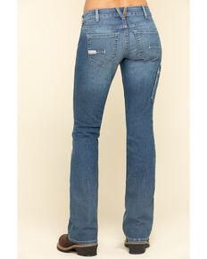 Ariat Women's Rebar Mid Rise Durastretch Raven Work Bootcut Jeanss , Blue, hi-res