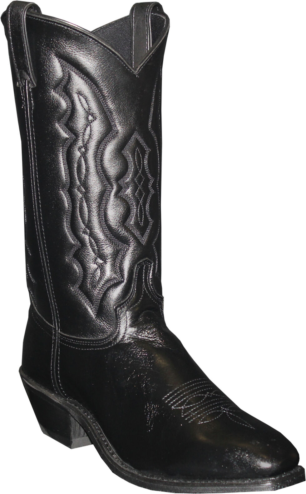 Abilene Black Dress Cowboy Boots - Square Toe , Black, hi-res