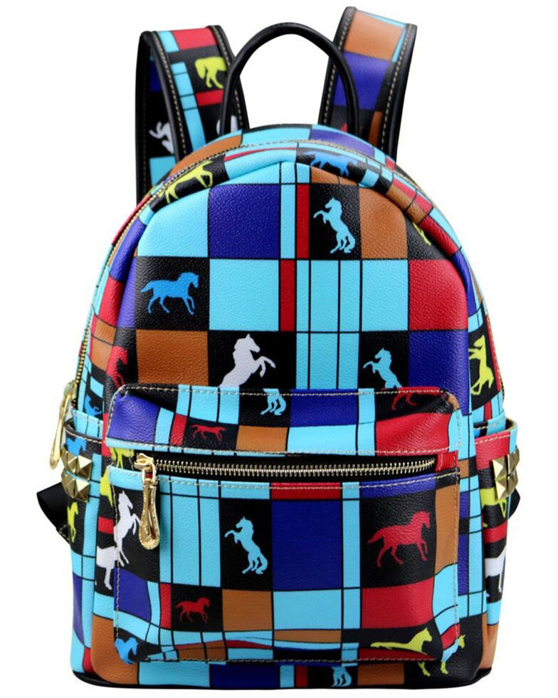 Montana West Women's Trail of Painted Ponies Backpack, Turquoise, hi-res