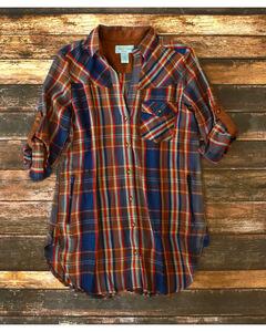 Tasha Polizzi Women's Highland Shirt , Indigo, hi-res