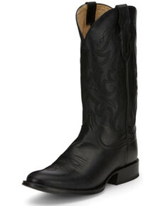 Tony Lama Men's Patron Black Western Boots - Round Toe, Black, hi-res