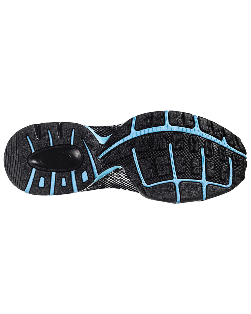 Nautilus Women's Grey and Blue Nylon Microfiber Athletic Work Shoes - Composite, Grey, hi-res