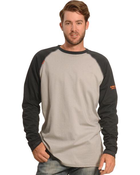 Ariat Men's FR Long Sleeve Baseball T-Shirt , Black, hi-res