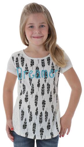 """Wrangler Girls' """"Dreamer"""" Short Sleeve Shirt, Cream, hi-res"""