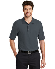 Port Authority Men's Silk Touch Short Sleeve Polo Shirt - Tall , Steel, hi-res