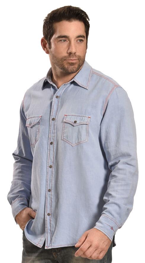 Ryan Michael Men's Birdseye Dobby Shirt, Blue, hi-res