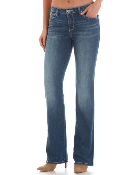 Wrangler Aura Women's Instantly Slimming Medium Blue Jeans - Boot Cut, Indigo, hi-res