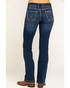 Wrangler Women's Dark Wash Retro Mae Jeans , Indigo, hi-res