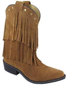 Smoky Mountain Girls' Wisteria Western Boots - Medium Toe, Brown, hi-res
