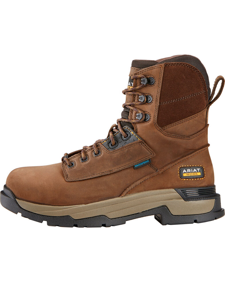 "Ariat Mastergrip 8"" H2O Work Boots - Composite Toe, , hi-res"