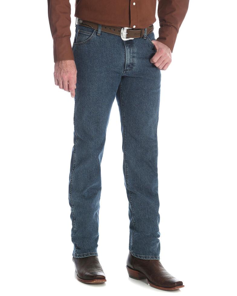 Wrangler Men's Premium Performance Cool Vantage Regular Fit Cowboy Cut Jeans, Indigo, hi-res