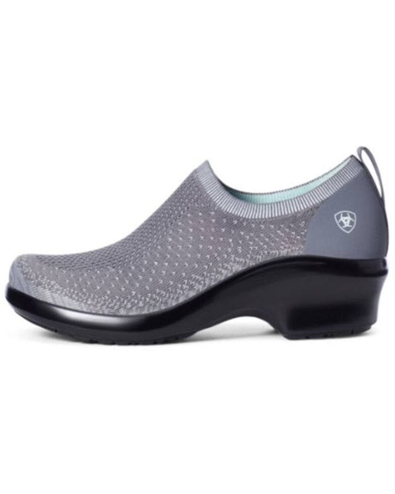 Ariat Women's Ventknit Expert Clog Shoes - Round Toe, Grey, hi-res