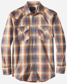 Pendleton Men's Ivory Frontier Long Sleeve Snap Western Shirt , Ivory, hi-res